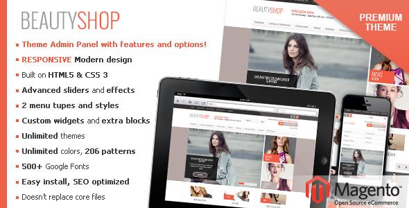ThemeForest BeautyShop Premium Responsive Magento theme 3976069