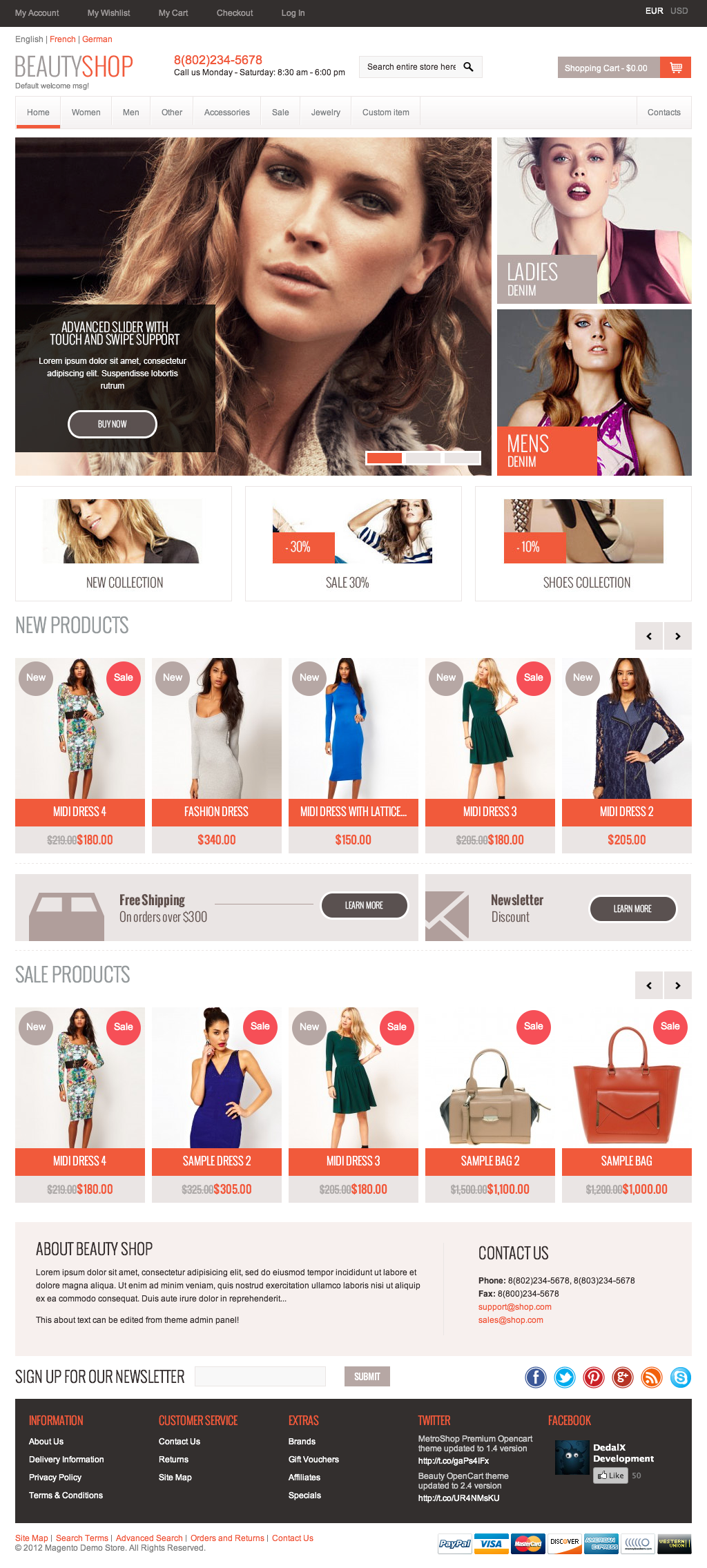 BeautyShop  Premium Responsive Magento theme!