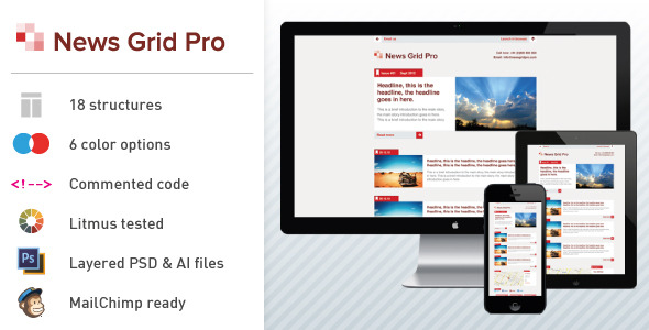 News Grid Pro - Email Newsletter Template