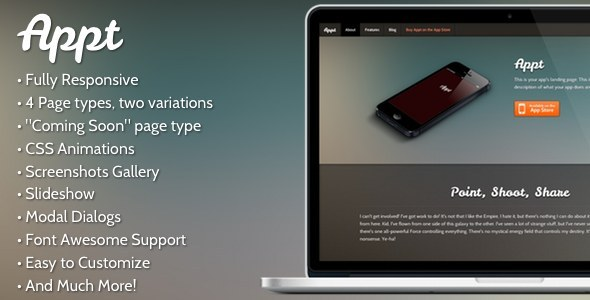 Appt - A Fully Responsive App Landing Page
