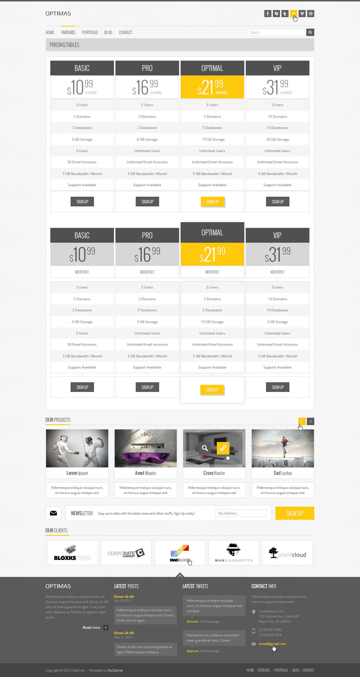 Optimas - PSD Template