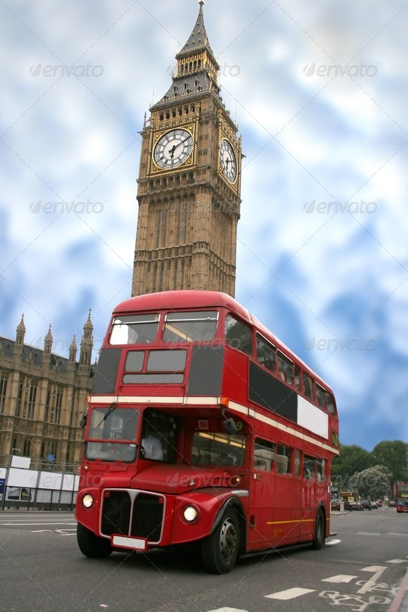 PhotoDune big ben and london bus 429861