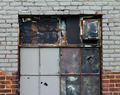 Old Broken Windows and Brick Wall - PhotoDune Item for Sale