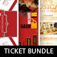 Event Ticket Template Bundle Volume 7 - GraphicRiver Item for Sale
