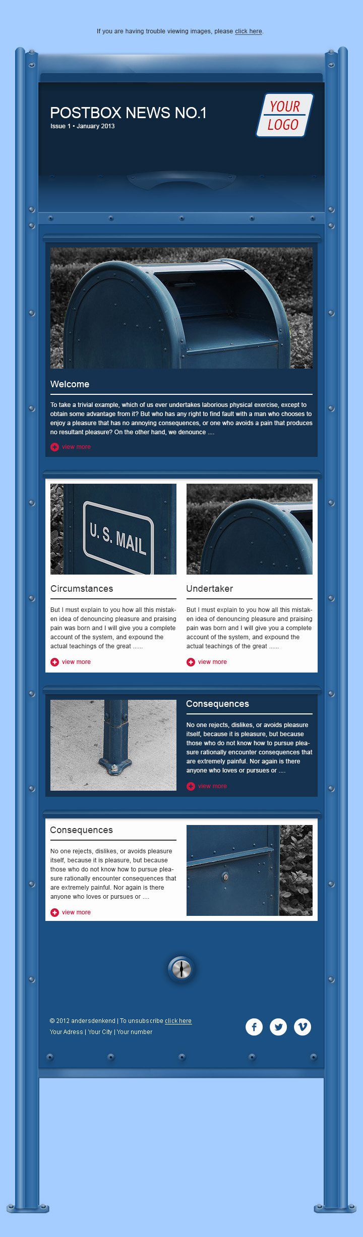 HTML Newsletter - Postbox Collection No.1