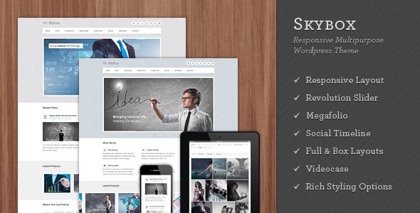 Skybox - Responsive Multipurpose WordPress Theme