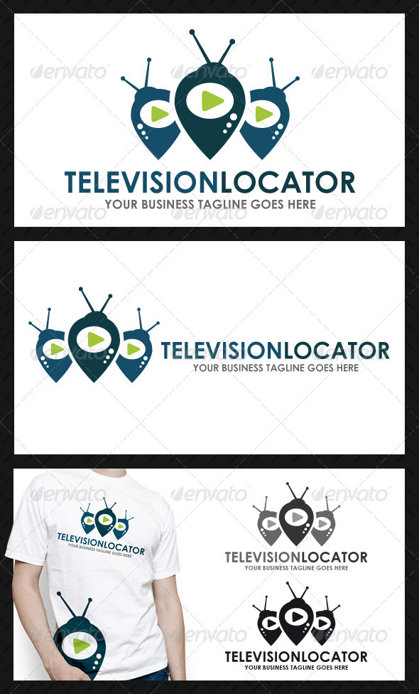 GraphicRiver Tv Locator Logo Template 3981366
