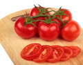 Fresh tomatoes and  tomatoes slices - PhotoDune Item for Sale