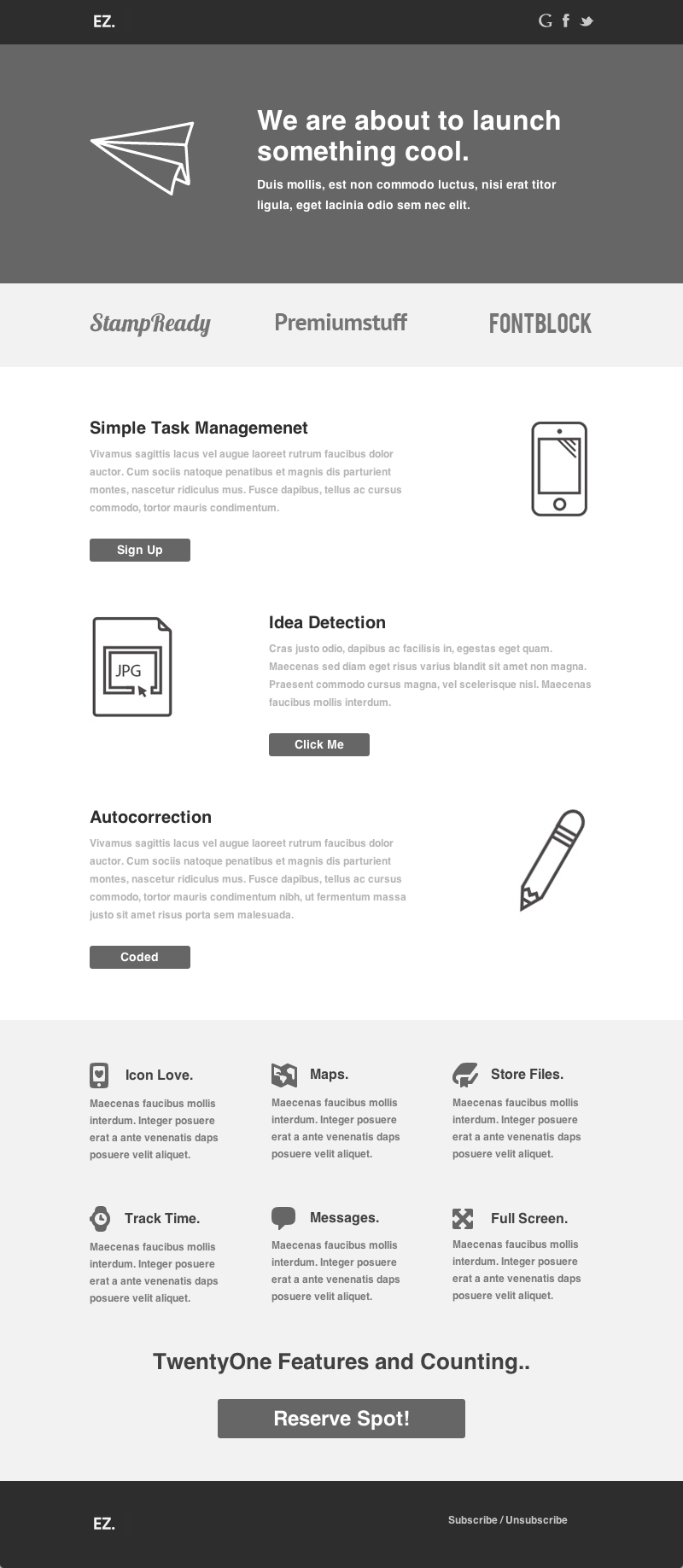 EZ - Flexible E-mail Template