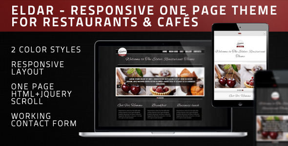 Eldar - HTML Theme For Restaurants & Cafés