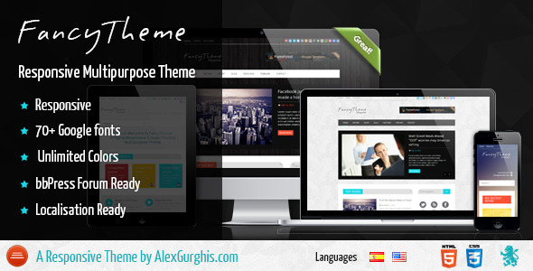 ThemeForest FancyTheme Multipurpose WordPress Theme 3929323