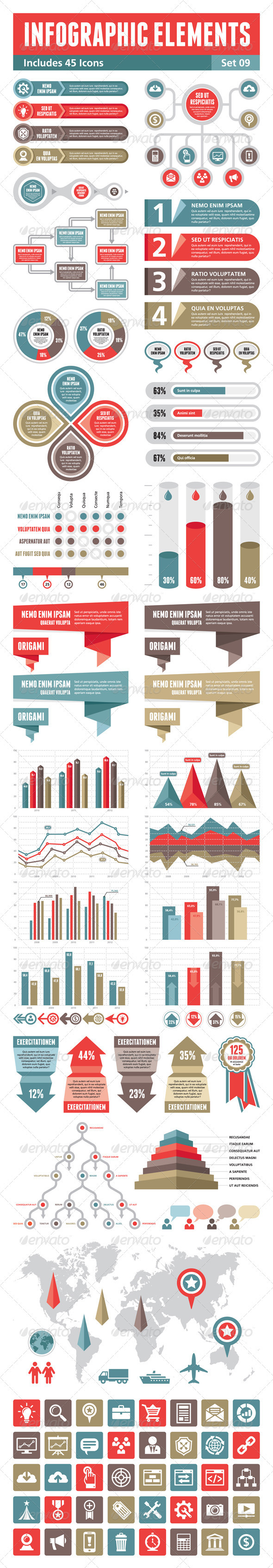 Infographic Elements - Set 09 - Miscellaneous Vectors
