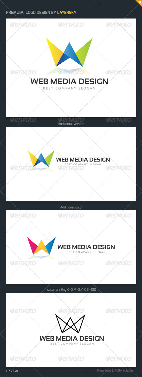 GraphicRiver Web Media Design Logo 3982618