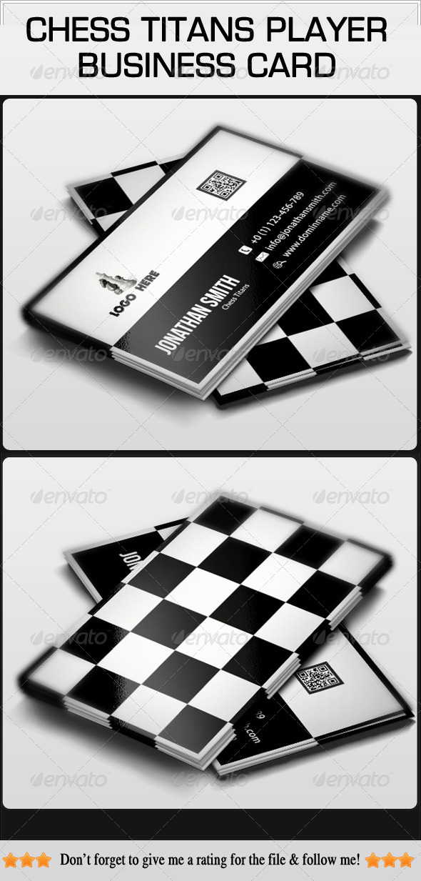 Chess Titans Player Business Card - Industry Specific Business Cards