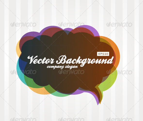 GraphicRiver Speech Bubble Background 3983474