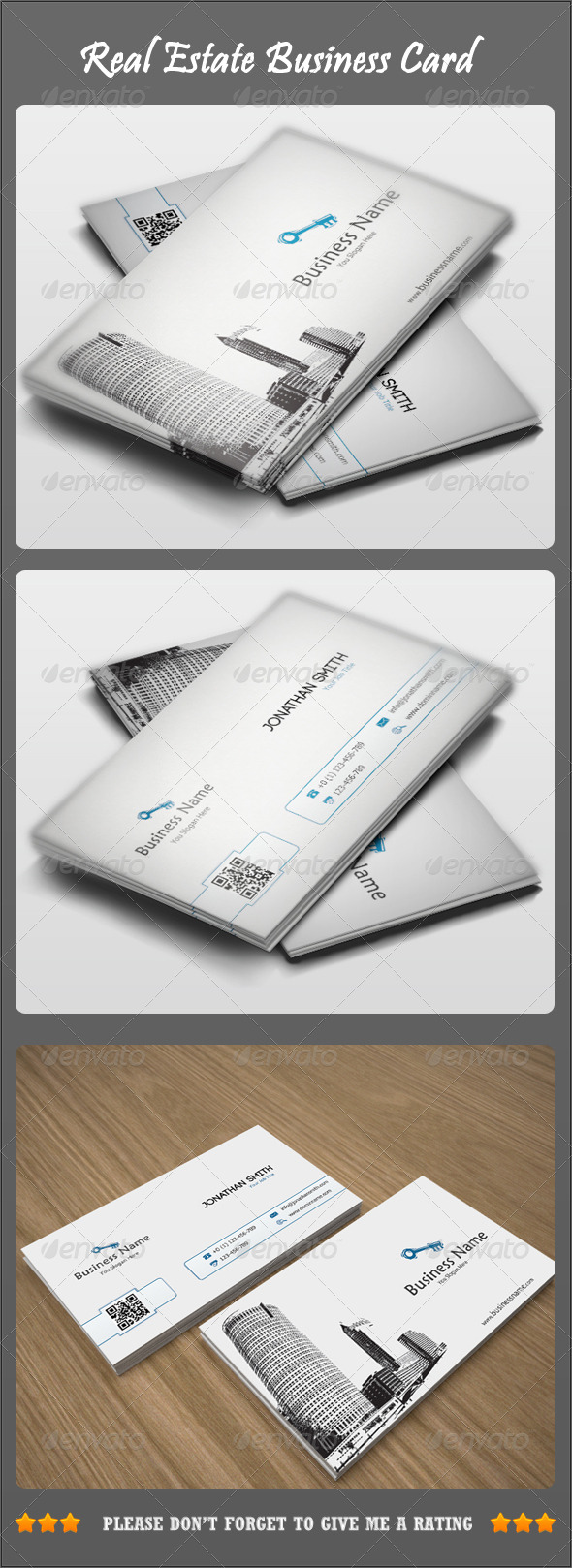 GraphicRiver Real Estate Business Card 3983495