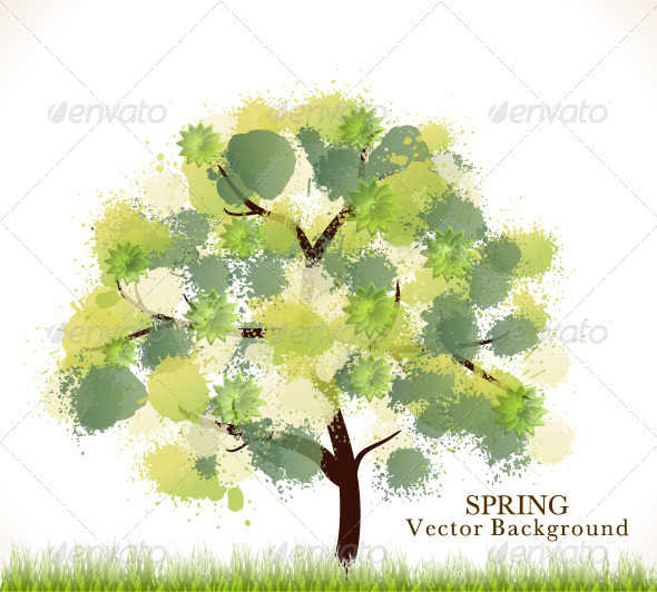 GraphicRiver Spring Abstract Vector Background 3983614