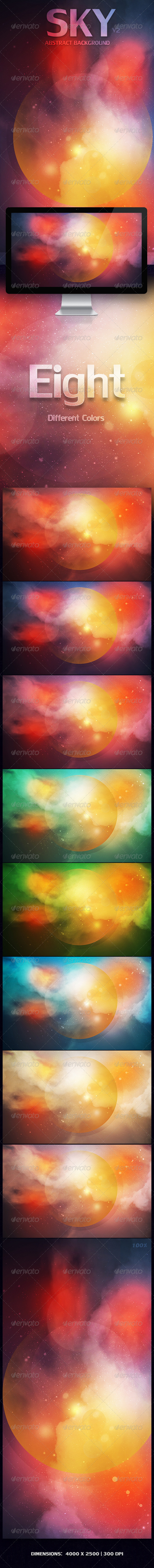 SKY Abstract Background  | V2 - Abstract Backgrounds