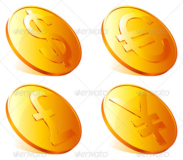 GraphicRiver Golden Coins 3983826