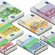 Isometric Full Set of Euro Banknotes - GraphicRiver Item for Sale