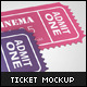 Small Event Ticket Mockup - GraphicRiver Item for Sale
