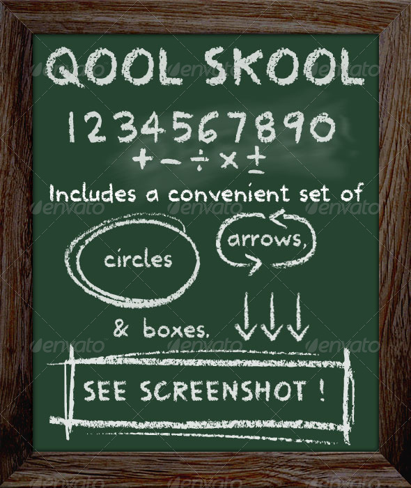 GraphicRiver School Type Lettering Chalkboard Font 3984991