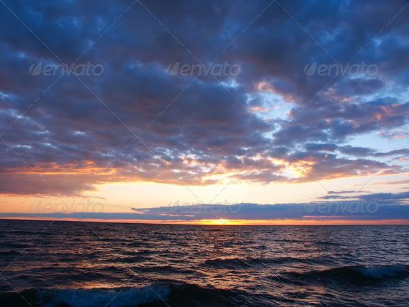 PhotoDune Lake Superior Sunset 3985721