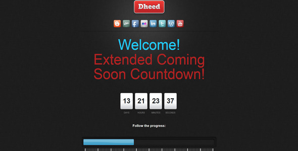 CodeCanyon Extended Coming Soon Countdown 3916245