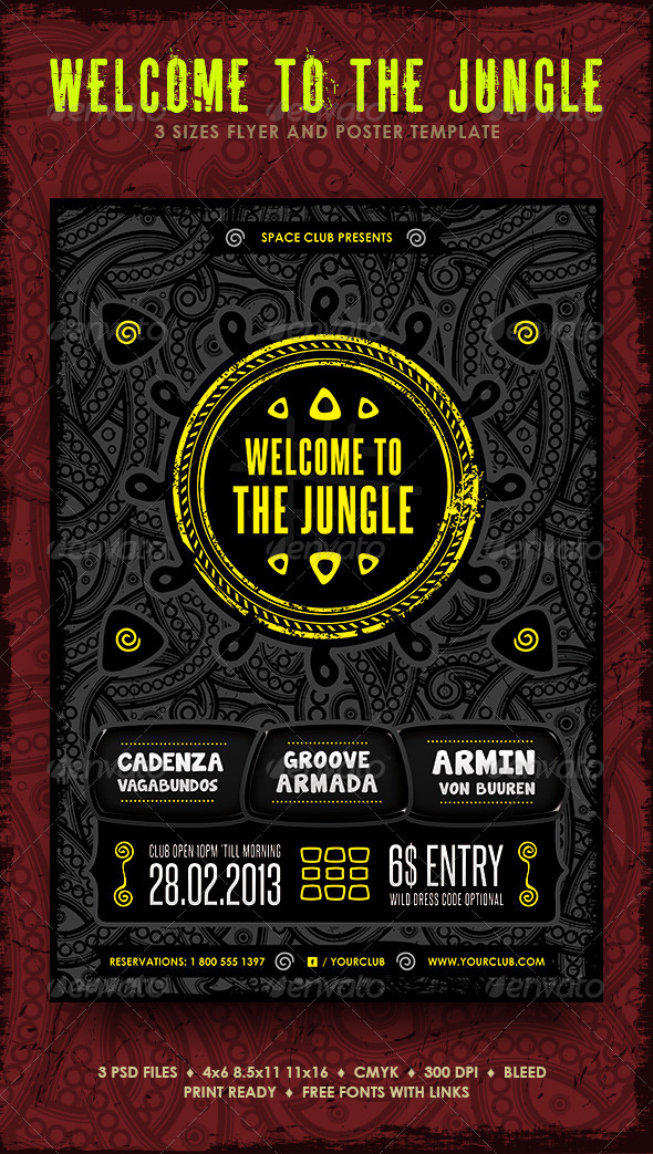 GraphicRiver Welcome To The Jungle 3895152