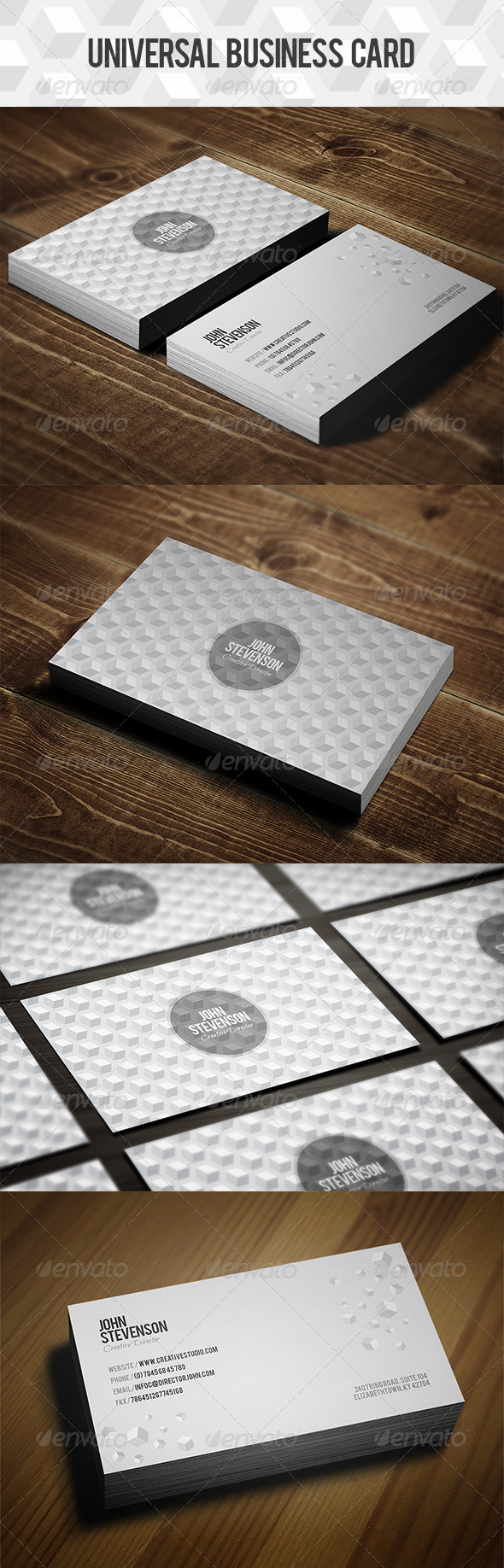 GraphicRiver Squares Business Card 3986779