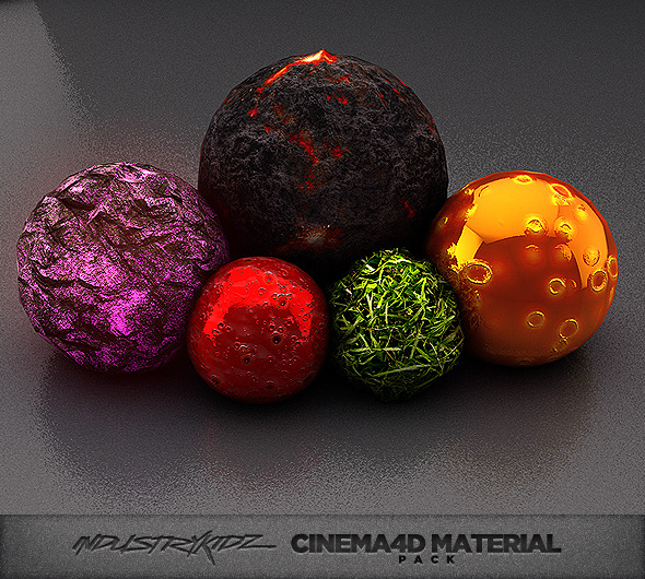 3DOcean Cinema 4d Material pack 3986924