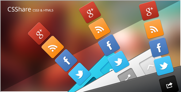 CodeCanyon CSShare Social Media Icons Footer 3987159