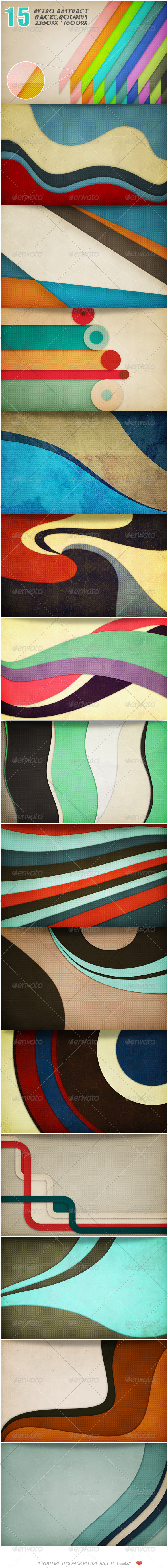 15 Retro Graphic Backgrounds - Abstract Backgrounds