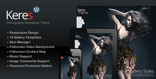 ThemeForest Keres Fullscreen Photography Theme 3960542