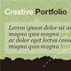 Creative Portfolio - ThemeForest Item for Sale