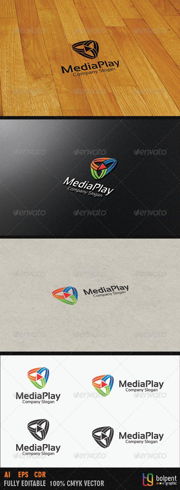 GraphicRiver Media Play Logo Template 3987845