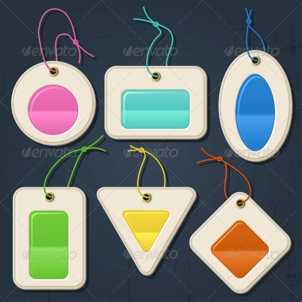 GraphicRiver Set of colorful bubbles stickers labels tags 3988970