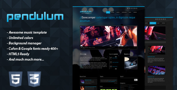 PENDULUM  Premium Wordpress Theme - Portfolio Creative