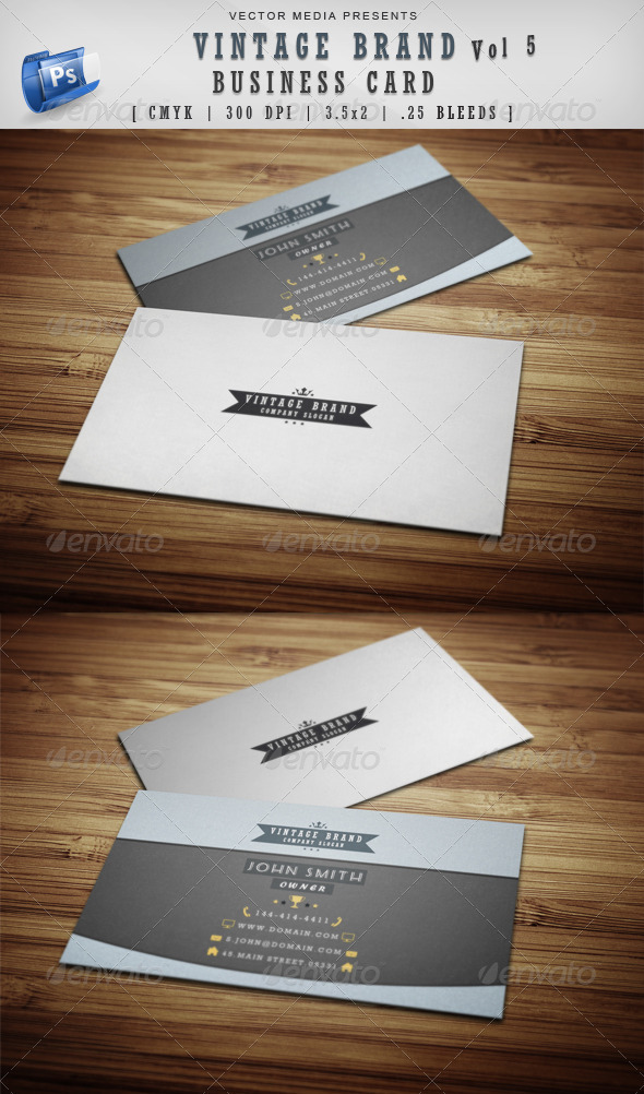 GraphicRiver Vintage Brand Business Card [Vol 5] 3989861