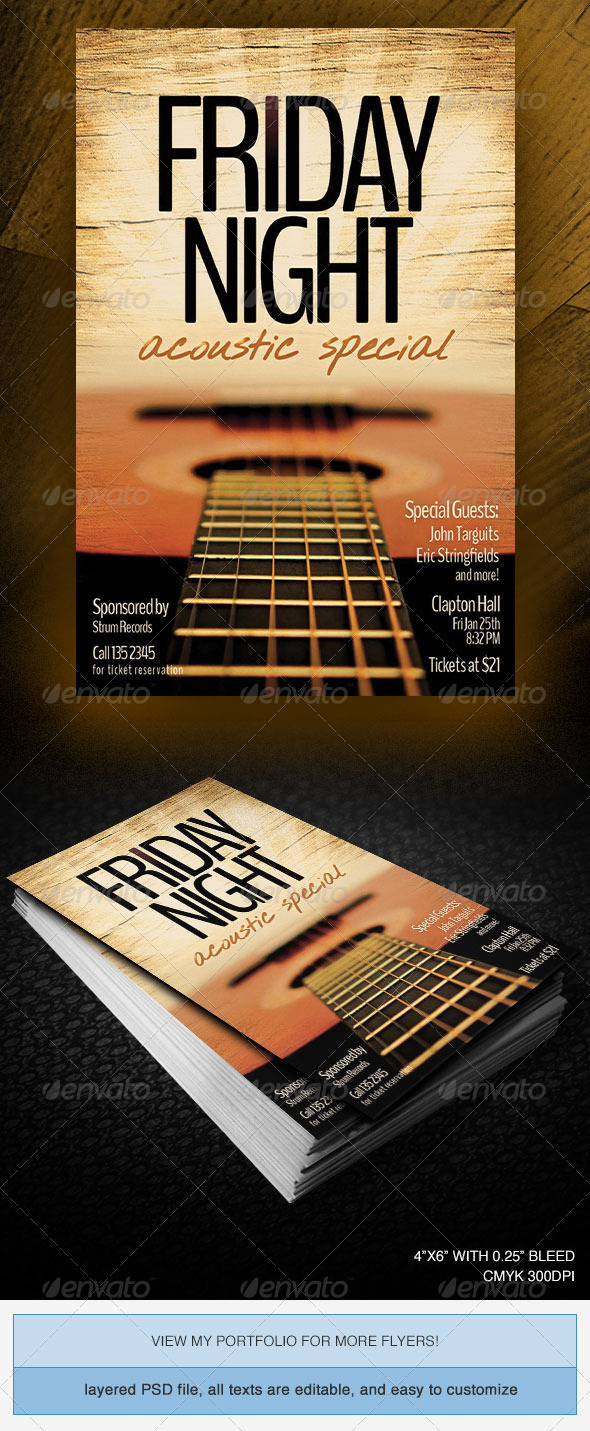GraphicRiver Friday Night Acoustic Special 3895233