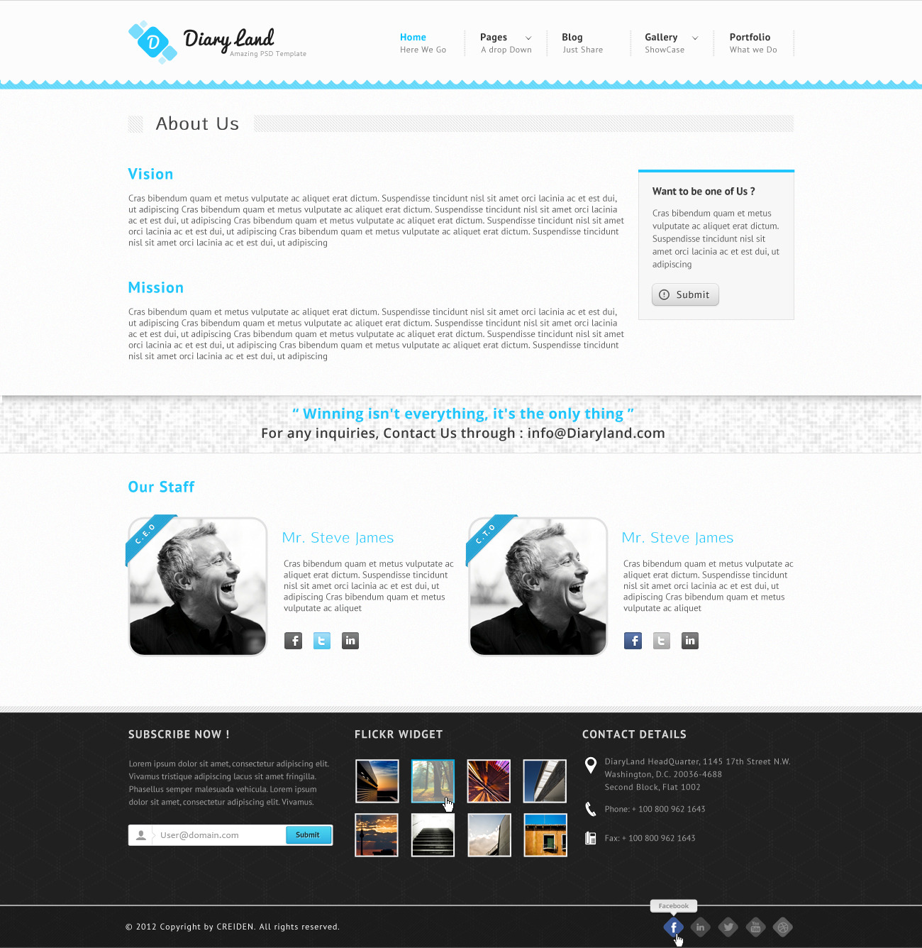 DiaryLand - Corporate Wordpress Responsive Theme
