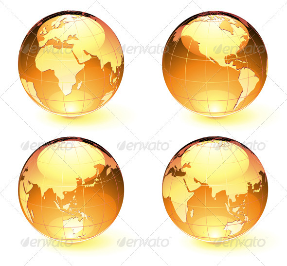 GraphicRiver Glossy Earth Map Globes 3993107