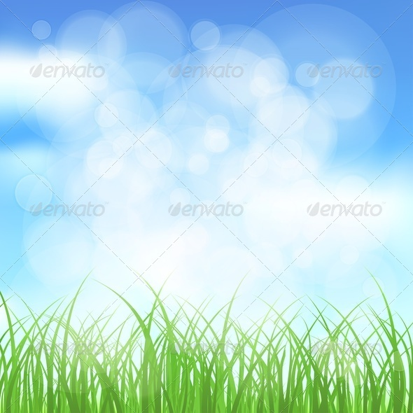 GraphicRiver Natural Spring Background 3993306