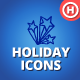 90 Hand-drawn Holiday Icons-Graphicriver中文最全的素材分享平台