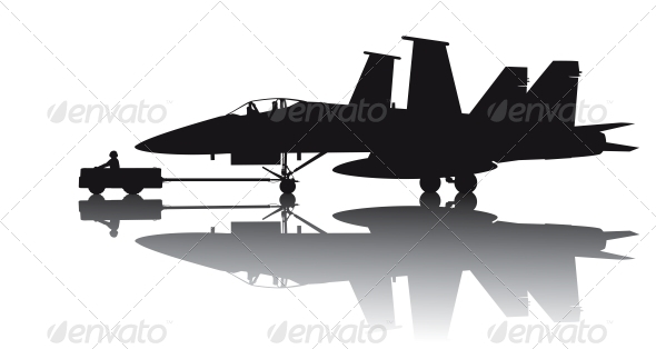 GraphicRiver Military Aircraft Silhouette 3993466