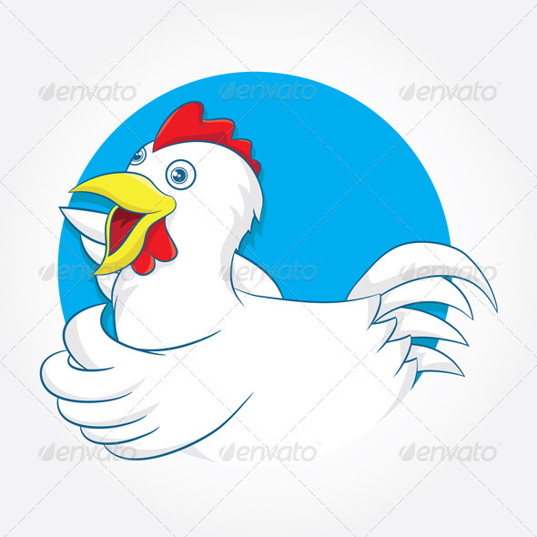 GraphicRiver Chiken Circle Blue 3993511