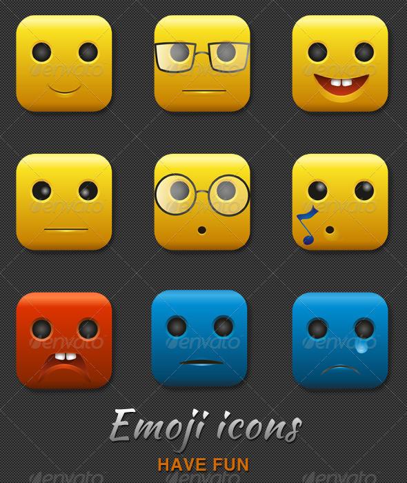 GraphicRiver Emoji Icons 3818249