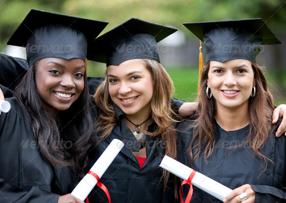 Graduation girls - Stock Photo - Images
