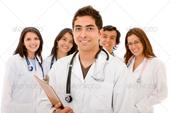Doctors - isolated - Stock Photo - Images