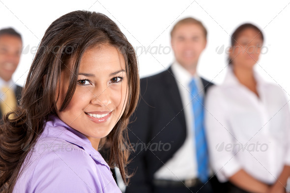 business woman and her team - Stock Photo - Images